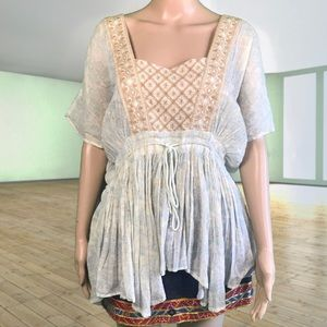 Free People Bohemian Tunic Blouse